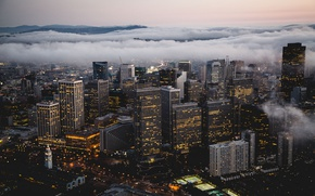 Picture winter, the city, fog, USA, San Francisco