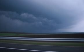 Picture road, sky, Storm, clouds
