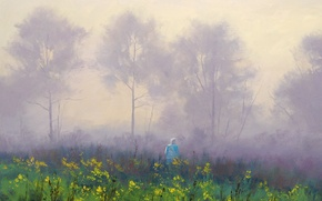Picture ART, FIGURE, ARTSAUS, STROLL NI THE MIST