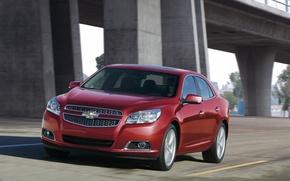 Picture road, machine, red, speed, Chevrolet, car, Chevrolet, beautiful, Chevrolet, Malibu