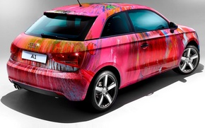 Picture pink, Audi, pink, color, audi a1