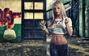 Picture girl, graffiti, FAK, blonde, fuck, bit, Bianca Huber
