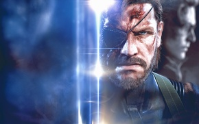Picture Big Boss, Metal Gear Solid V: Ground Zeroes, necked snake, Kaz, Kazuhira Miller