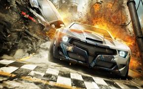 Picture Race, CG Wallpapers, Split-Second, Racing, Explosions, Car, Black Rock Studio