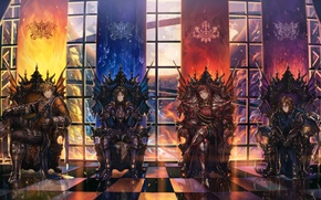 Picture Windows, anime, art, chairs, guys, knights, granblue fantasy