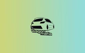 Picture machine, auto, minimalism, mazda, Mazda, mafia, avto