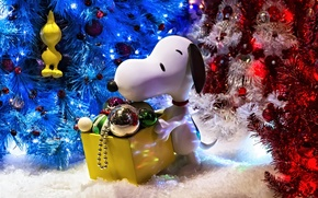 Picture decoration, toys, dog, tree, decoration, Snoopy, Snoopy