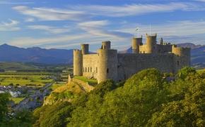 Wallpaper Wales, street, castle