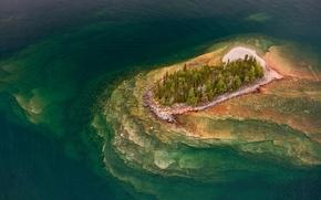 Picture trees, island, Canada, Ontario, Lake Superior Provincial Park