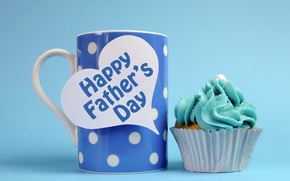 Picture mug, cupcake, Happy Father's Day