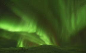 Picture the sky, stars, mountains, Northern lights, Iceland