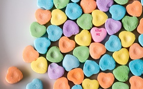 Picture Desperate Hearts, Love me, candy hearts