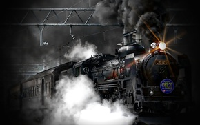Picture train, the engine, couples, train