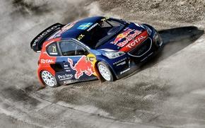 Picture Dust, Peugeot, Skid, Peugeot, 208, WorldRX, Timmy Hansen