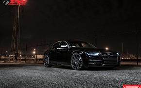 Picture Audi, black, tuning, audi s4