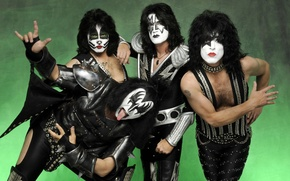 Picture makeup, hippie, rock band, Kiss