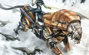 Picture robot, Leo, Rider