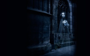 Picture girl, castle, cast, silhouette, Ghost