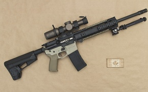 Picture weapons, carabiner, assault rifle