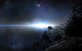Picture planet, Light, asteroid