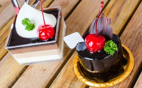 Picture the sweetness, chocolate, cakes, cherries