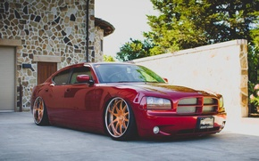 Picture red, dodge, charger, srt8