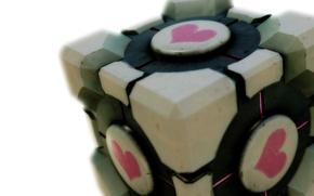 Picture heart, cube, portal
