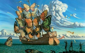 Picture sea, ship, Vladimir Kush Departure of the winged ship