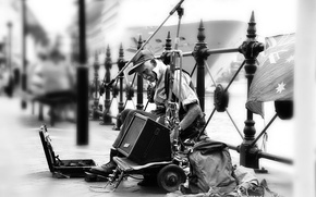 Picture the city, music, street, musician