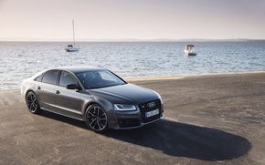 Picture sea, machine, the sky, Audi, Audi, sedan, More