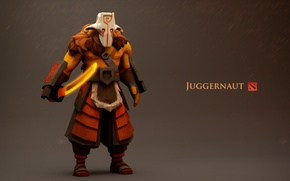 Picture dagger, hero, Juggernaut, dota 2, samuray