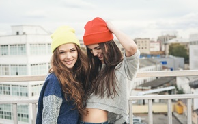 Picture girls, laughter, smile, beautiful