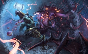 Wallpaper World of Warcraft, diablo, Orc, warcraft, wow, art, hots, Heroes of the Storm, trall