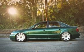 Picture Audi, green, Audi, profile, green