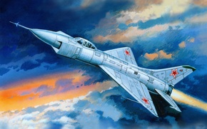 Picture the sky, art, the rise, OKB, aircraft, experienced, side, experimental, T-49, P. O. Sukhoi, vodohospodarske.
