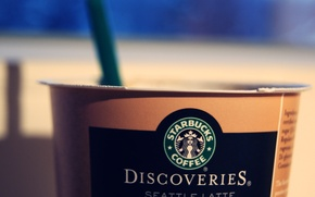 Picture coffee, logo, Cup, starbucks