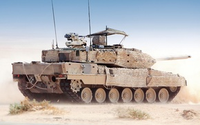 Picture Desert, Tank, Leopard 2A, The main German tank