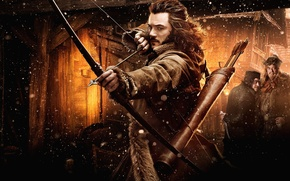 Picture bow, arrows, bow, The hobbit, The Hobbit, arrow, Luke Evans, Luke Evans, The Hobbit: The ...