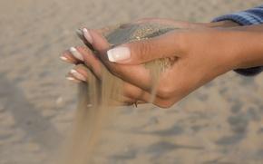 Wallpaper hands, fingers, sand