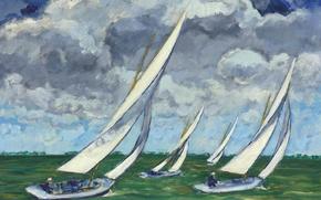 Picture sport, picture, yacht, sail, seascape, Kees van Dongen, Regatta