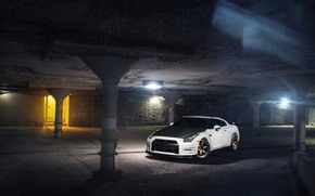 Picture Nissan, GT-R, Car, Front, White, R35, Sport, Evo G