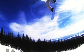 Wallpaper winter, energy, snow, mountains, snowboard, snowboarding, the descent, sport, entertainment