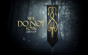 Picture wallpaper, house, forest, octopus, series, A Song of Ice and Fire, Game of Thrones, Greyjoy, ...