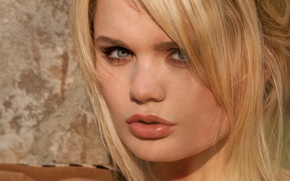 Picture Alexis Ford, eyes, lips, face, hair, blonde