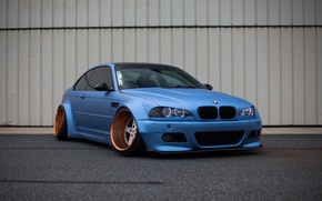 Picture tuning, bmw, BMW, wheels, blue, tuning, power, germany, low, stance, e46, bad boy
