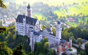 Picture castle, Germany, Bavaria, Germany, Bayern, Feet
