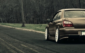 Wallpaper road, machine, subaru, wrx, Subaru