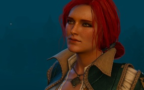 Wallpaper look, hair, the game, the enchantress, RPG, Triss Merigold, Triss Merigold, Witcher 3: Wild Hunt