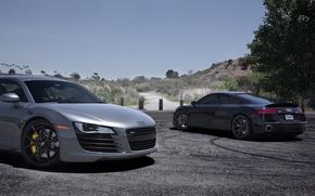 Picture the sky, grey, black, Audi, audi, black, grey