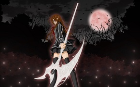 Wallpaper girl, the moon, anime, Vampire Knight, knight-vampire, yuki, Yuki